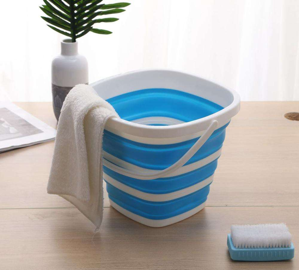 Folding plastic household portable large capacity car wash bucket portable outdoor collapsible fishing square thickening bucket