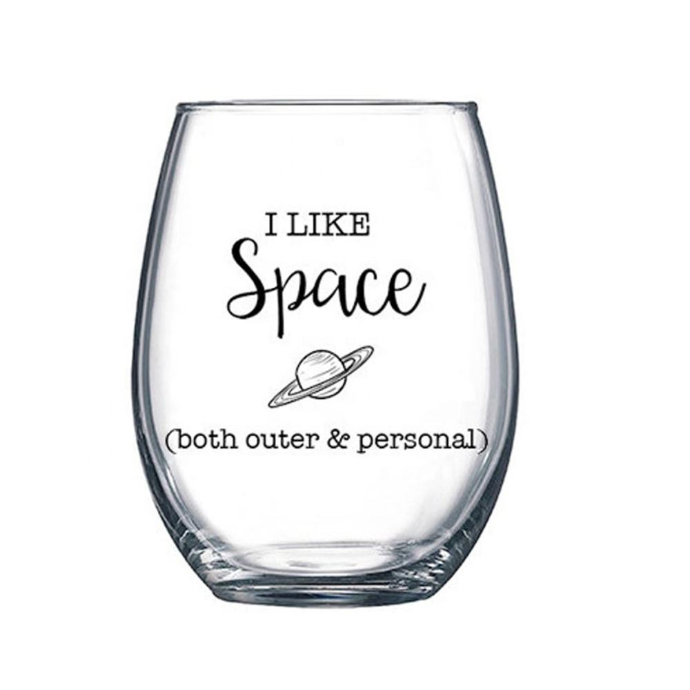 Wholesale wedding stemless wine glass Lulie stemless Wine glasses whisky disposable wine glasses stemless