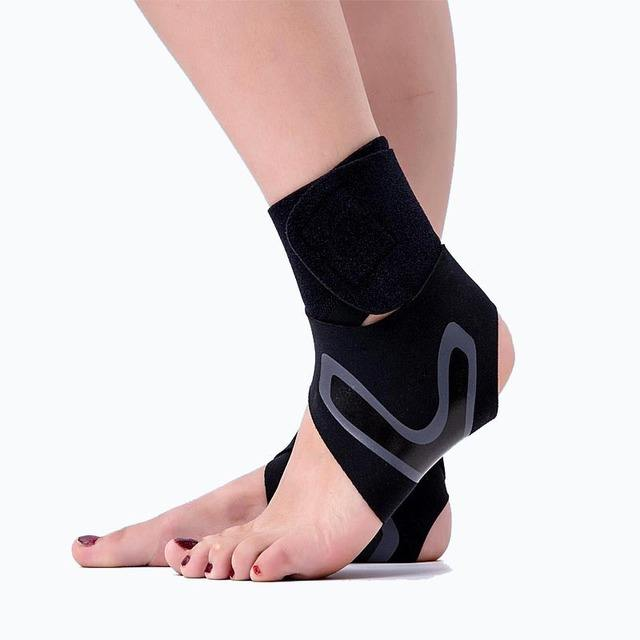 Adjustable Sports Support Injury Protection Lace Ankle Brace Foot Drop Up Pain Relief Compression
