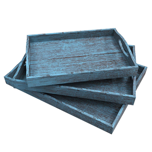 Hot sale handmade high quality multipurpose rustic wooden serving tray