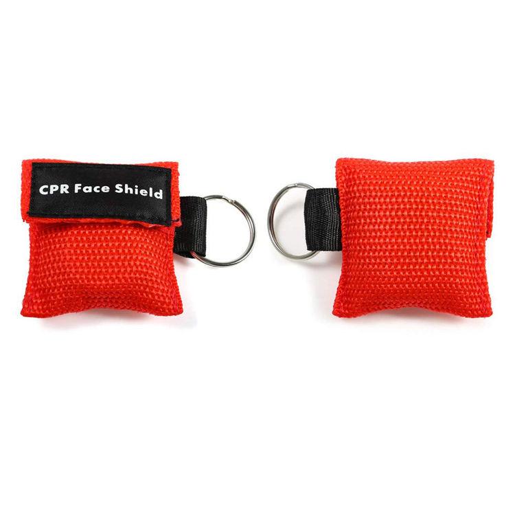 Individuelles Logo Druck Einweg <span class=keywords><strong>CPR</strong></span> <span class=keywords><strong>Maske</strong></span> Gesicht Schild Keychain