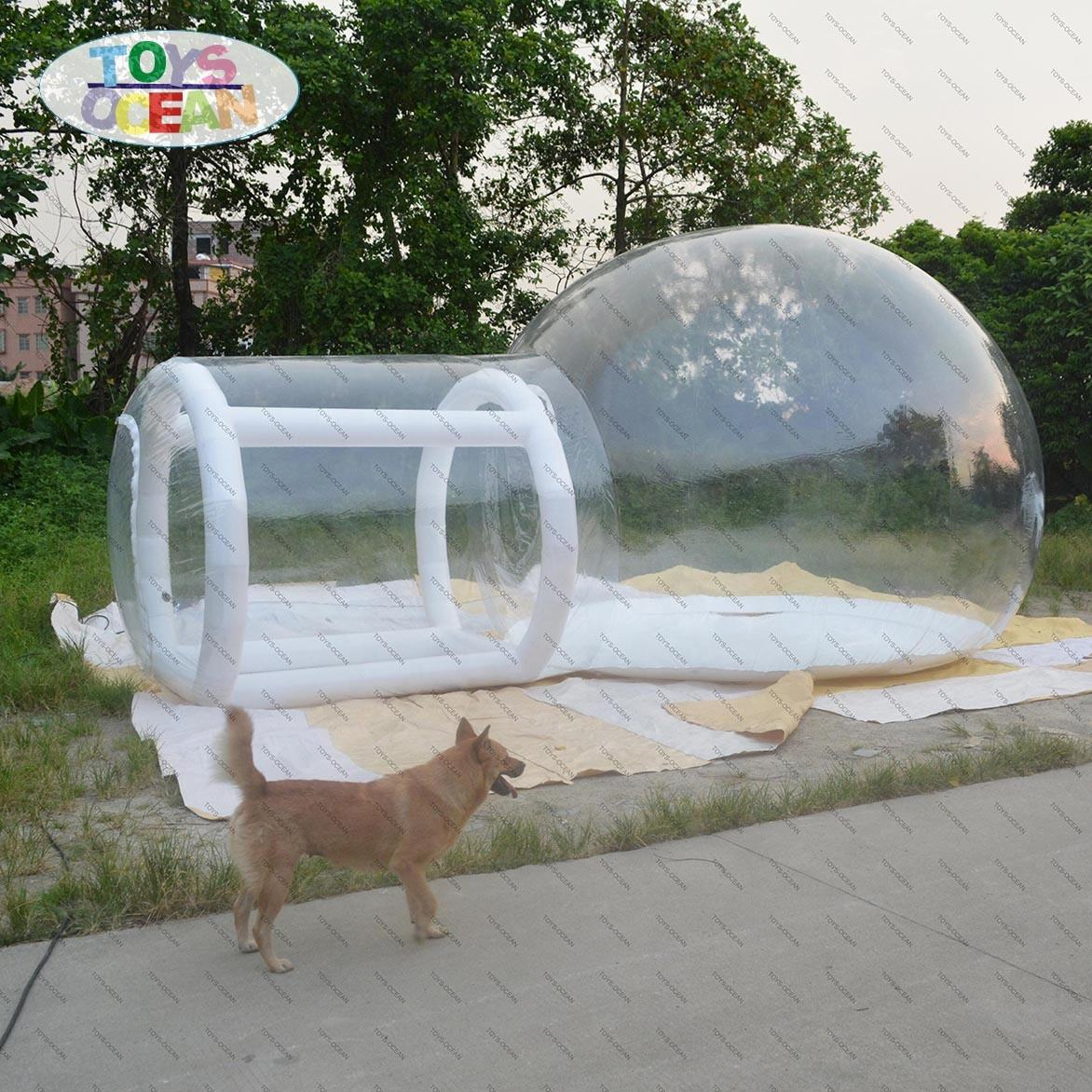 clear transparent inflatable bubble camping tent camping dome house