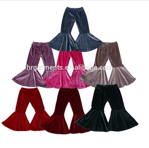 2020 wholesale boutique baby girls bottoms velvet bell bottoms for girls