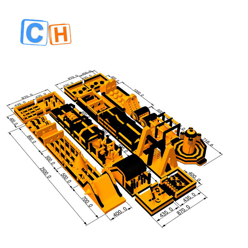 CH Hot selling The most popular item inflatable obstacle course racing game for events