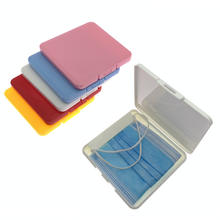 Small size Coloful Plastic face cover storage case portable plastic masked cover storage  holder