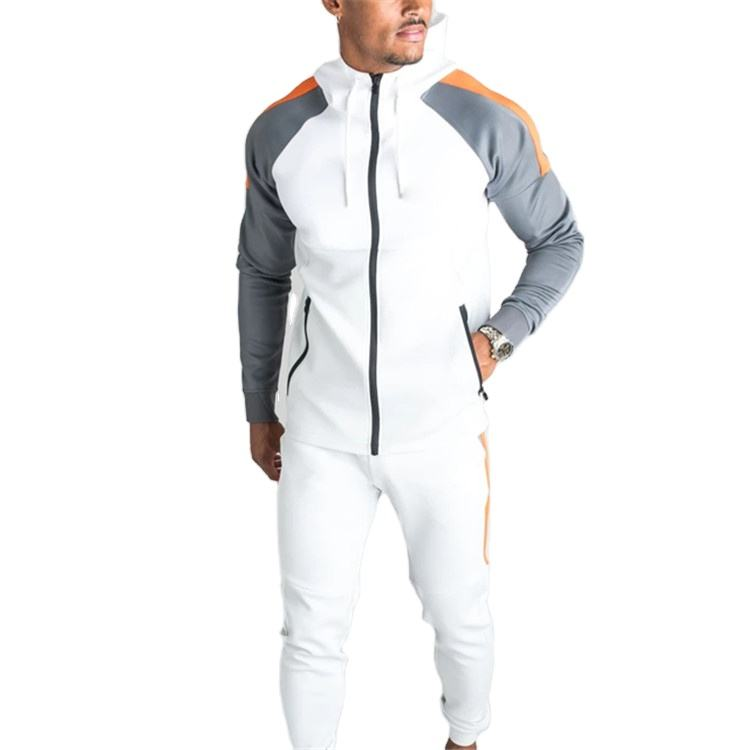 Men's Casual Tracksuit Full Zip Running Jogging Athletic Sports Jacket and Pants Sets Wholesale