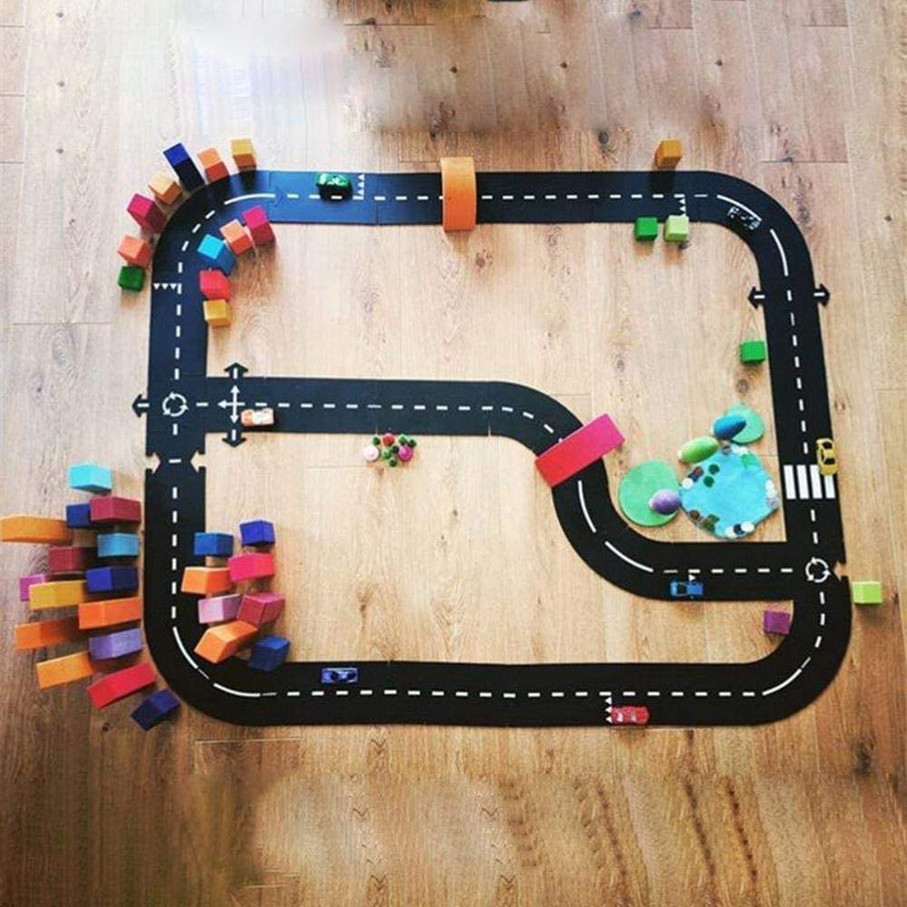 Car track puzzle toy Child Splicing path Road toy Taffic Highway Kids Playmat Educational play Toys for Children Games Carpet
