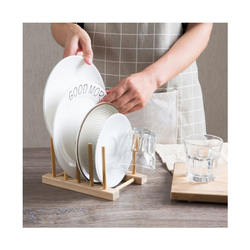 wooden plate rack dish for drying