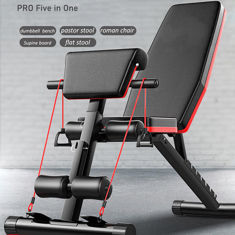 PRO 5-in-1 Adjustable Bench Press Foldable Gym Bench Weight Lifting Bench for whole body workout