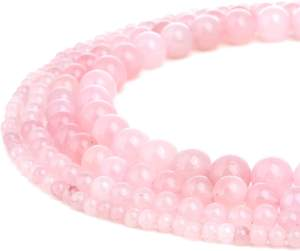 2020 Amazon New Arrival Natural 8mm Madagascar Round Pink Crystal Rose Quartz Gemstone Loose Bead For Jewelry Making