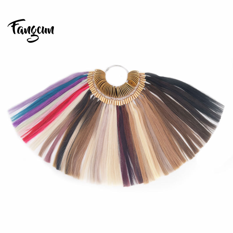 45 Colors Popular Hair Color Ring /Color Swatches/Color Chart
