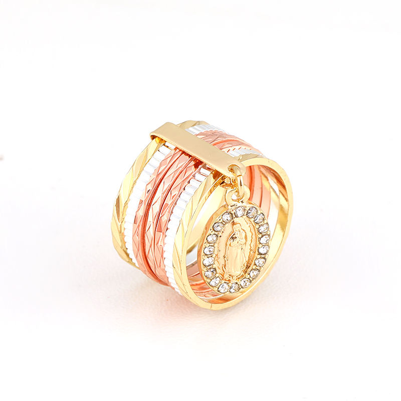 Hot Sell Jewelry 18k Gold Filled Jewelry Ring Anillos De Oro Laminado