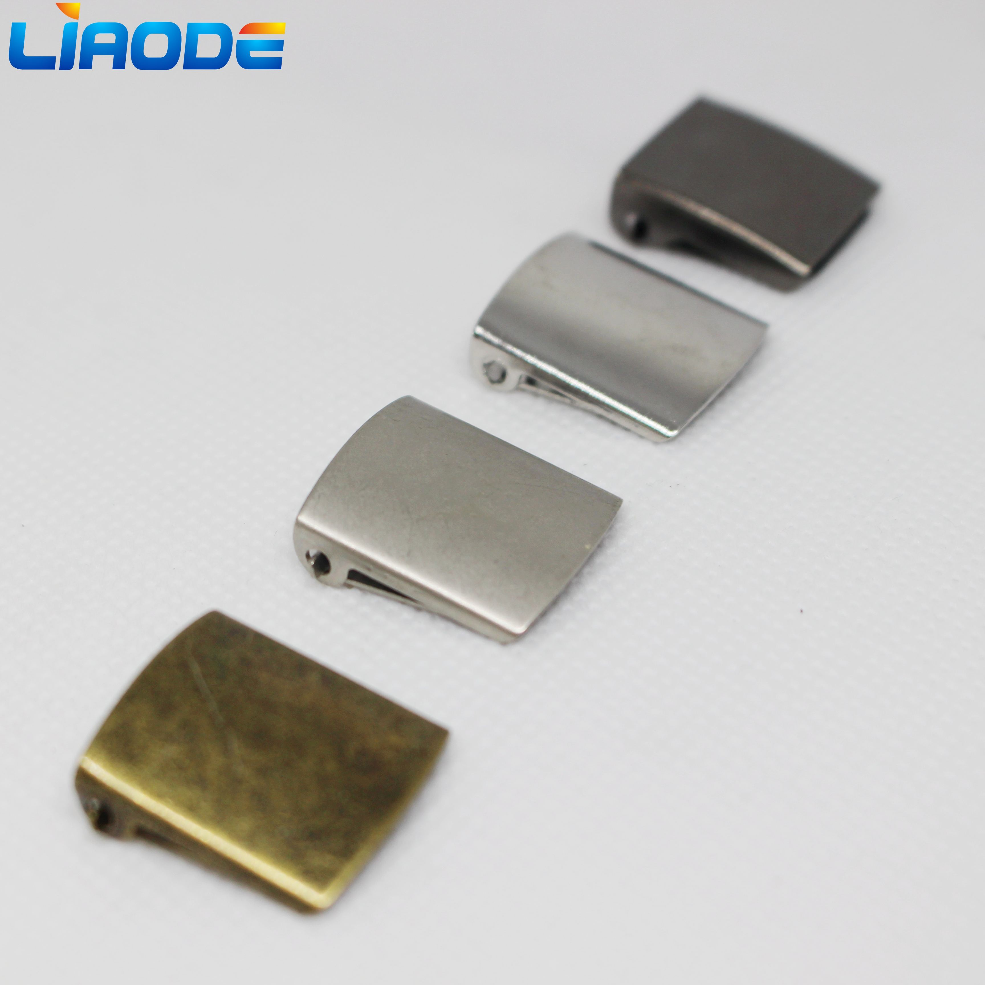 Wholesale Logo Customized Back Strap Belt adjuster tape Cap Metal Buckle