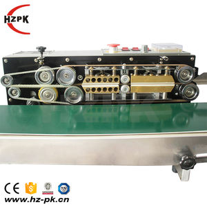 HZPK electronic continuous film sealing machine  continuous band sealer for thin film food