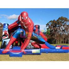 Customised inflatable jump bouncy castle to buy gonfiabile scivolo spiderman bounce house with slide inflatable castle slide