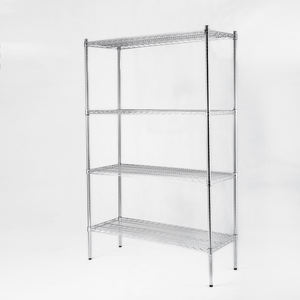 commercial 14x24x72 inch 4 layer Mobile shelf adjustable wire metal shelving rack