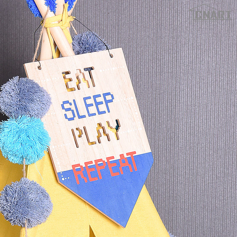 Decor Kids Room Decor Wooden Flag Decorations For Home