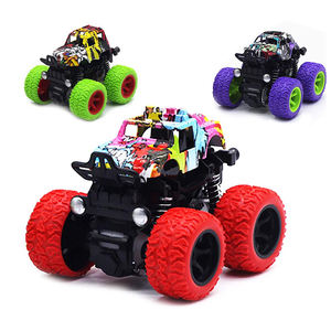 ON SALE!!! Manufacturer Anti Shock 360 Flipping Inertia SUV Vehicles Pull Back Car Toys Stunt Friction Powered Monster Trucks