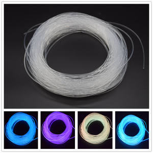2.5mm glow fiber SuperBright Plastic Solid Side Glow Fiber Optic Light for glow mouse pad decoration
