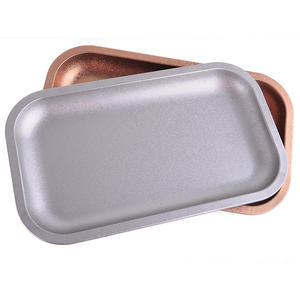 Chidao Jl-003z High Quality Custom Logo Wholesale Metal Designer Food Serving Tray