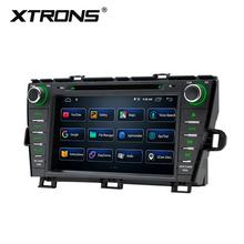 "XTRONS auto parts 8"" Android smart car multimedia system cd dvd player for toyota prius with bluetooth"