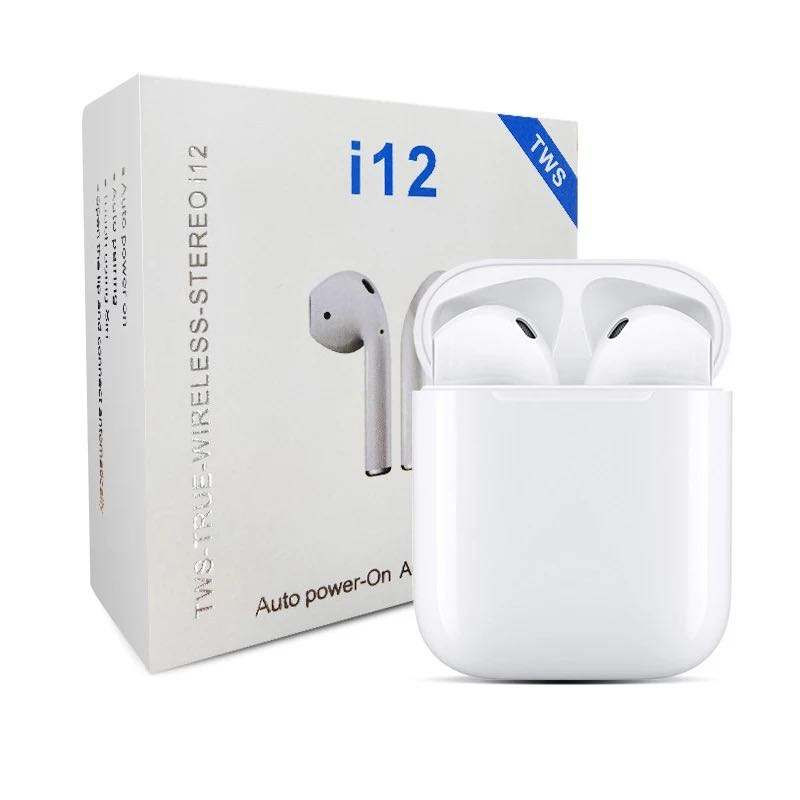 i12 tws wireless headset earplugs connect hands-free touch function automatically connect and pair Bluetooth 5.0 VSi90000 i100