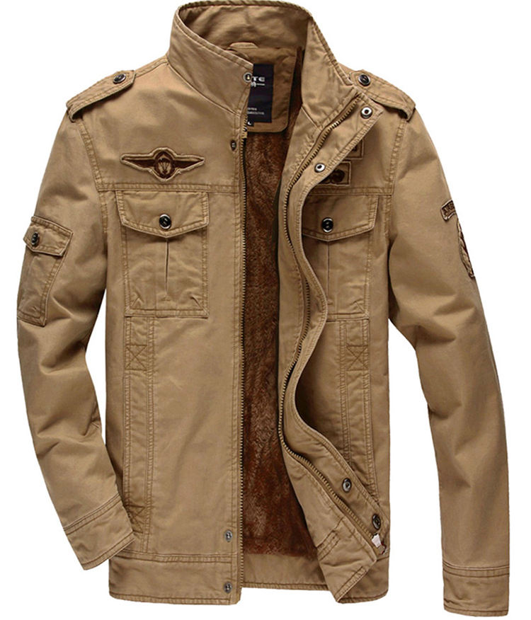 Plus Sizes Military Men's jacket Coats Winter Casual Embroidered Coat Garments manufacturer