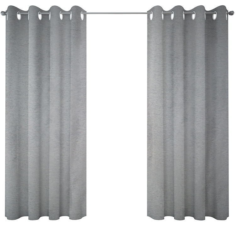 Hotel Used Customized 100% Polyester Luxury Flame Retardant Solid Blackout Curtain