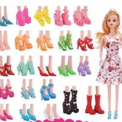 30cm toy shoes for doll change toy Crystal shoes Cinderella high heel accessories 10 pairs 20 pairs