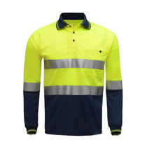 Plain Men T Shirt Design Hi Vis Reflective Long Sleeve Traffic Safety/running /work Safety High Visilibility 100% Polyester