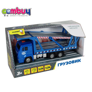 Diecast alloy car russian pull back 1:43 model toys engineering truck
