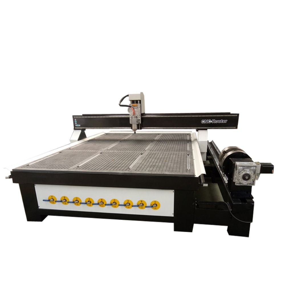 1325 3D CNC furniture Router for Wood Working with 86BYG stepper motor/DSP easy operating 1325 4 axis wood lathe machine