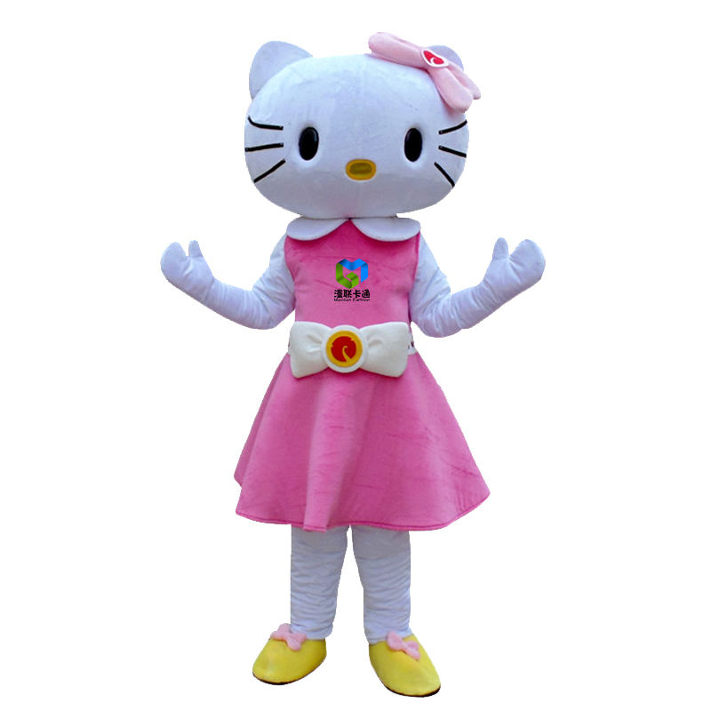 Professional design adult kitty mascot costume