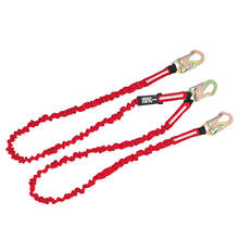 Fall Protection Energy Absorber 3 Snap Hook Tool Safety Lanyard