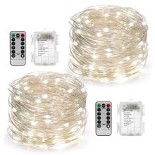 Led String Lights 33 Ft With 100 Leds Waterproof Christmas Copper Wire String Fairy Lights Battery