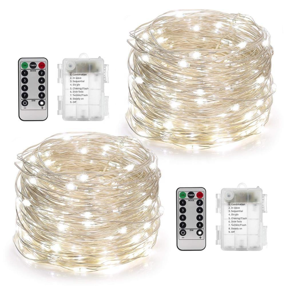 Led String Lights 33 Ft Met 100 Leds Waterdicht Kerst Koperdraad String Fairy Lights Batterij