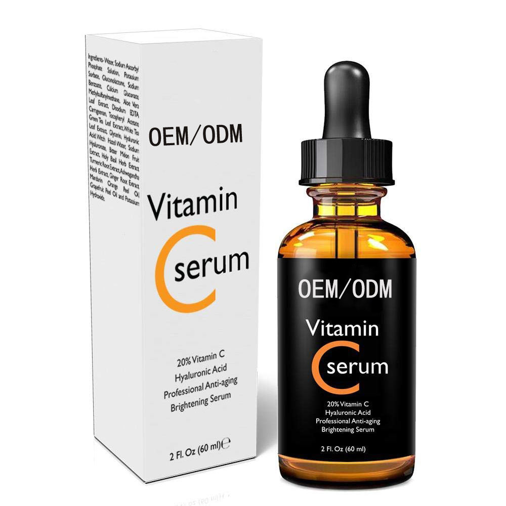 ODM Wholesale Private Label Skin Care Vitamin C Hyaluronic Acid Serum Anti Aging Whitening Serum Vitamin C OEM acido hialuronico