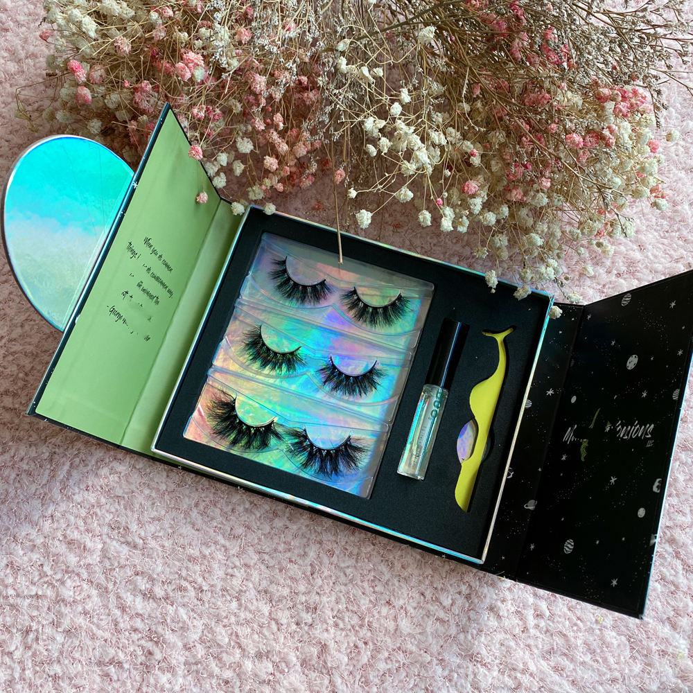 OEM service Private label verpackung box cruelty free individuelle flauschigen falsche wimpern pelz wimpern 3d nerz wimpern