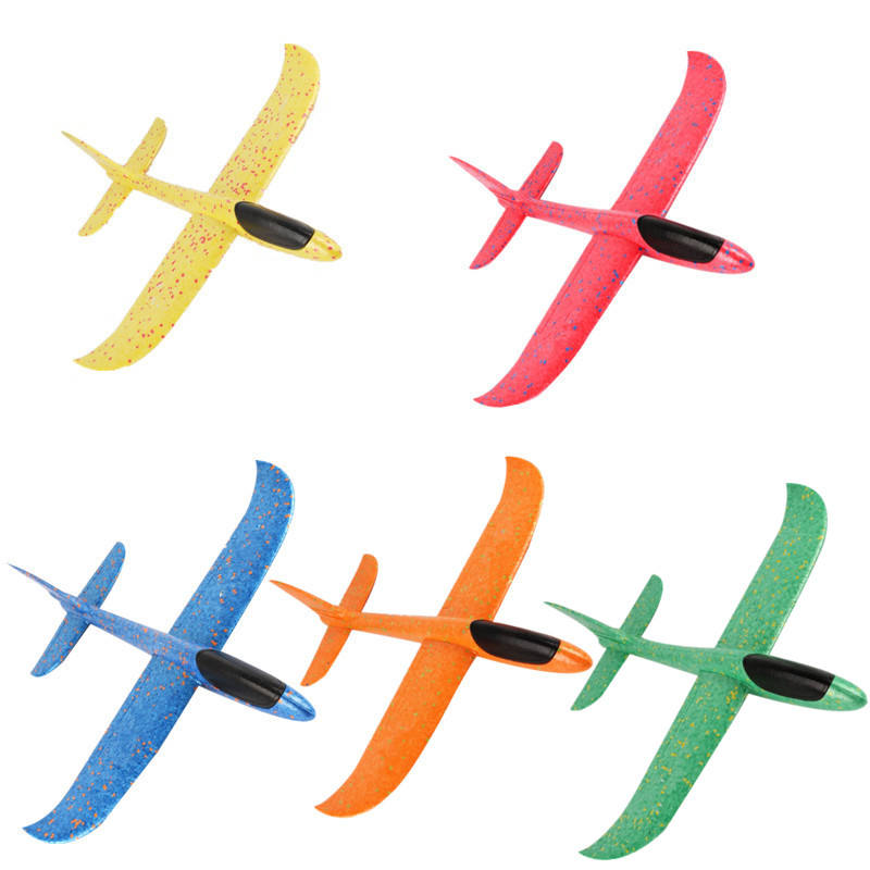 OEM 3D EPP Airplane Toys 48cm Large Hand Throwing Foam Plane, 2 Flight Mode Glider Plane, Flying Toy for Kids