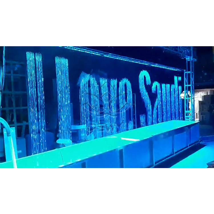 Indoor Outdoor Water Features Graphic Digital Water Fall Customized Hotel/shoping Mall Digital Water Curtain