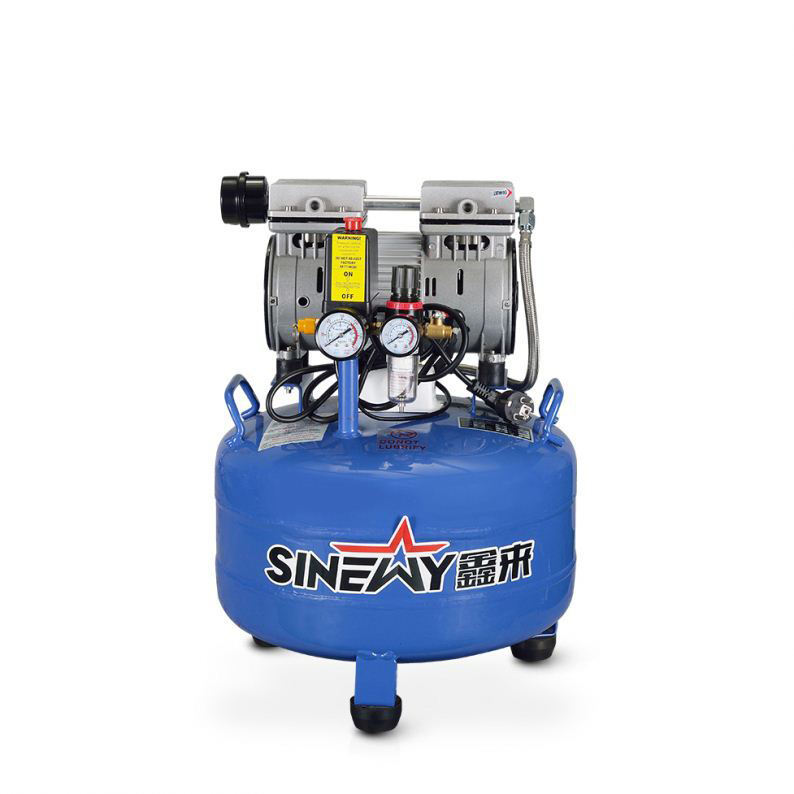 Silent performance small electric air compressor
