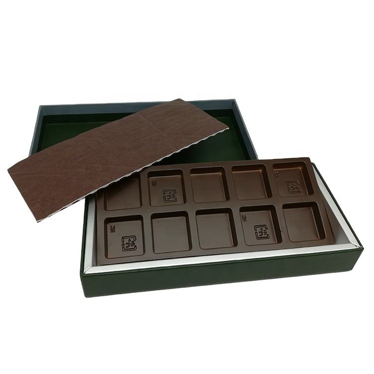 chocolate cookie candy sweet macaron biscuit cake packaging gift box with 10 grids insert dividers wholesale