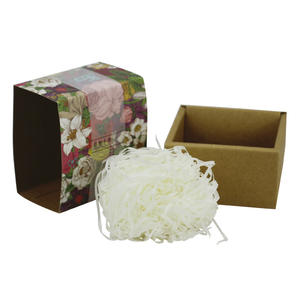 Recycled Die Cutting Small Square Paper Soap Craft Box Design With Sleeve