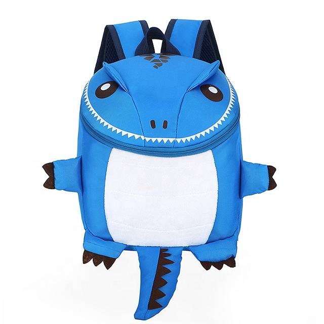 2020 Wholesale Fashion Cartoon Kindergarten School bag Soft back 3D Dinosaur Kids backpack