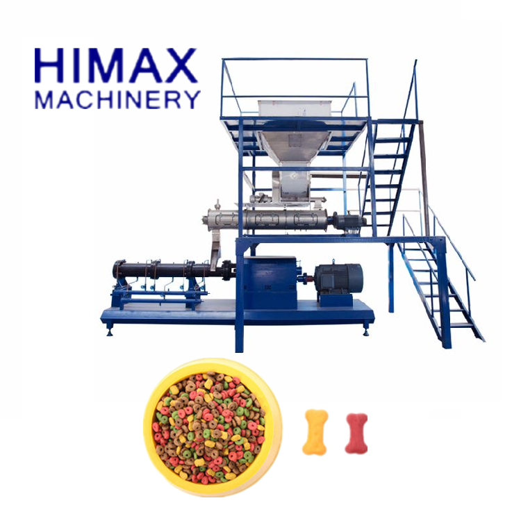High Efficiency Factory Price Double Screw Extruder pet food processing line dry pet food equipment
