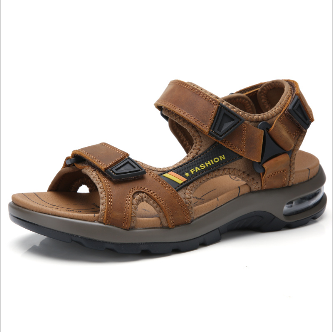Platform Summer Flat Leather Beach Custom Strap Running Sandals Men