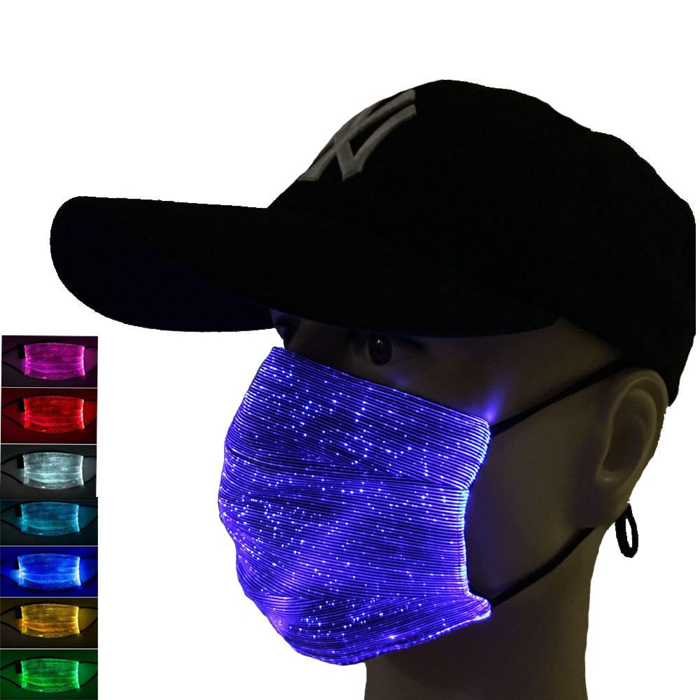 2020 top sellers glow in the dark mouth mask, rechargeable mask for club,party,cosplay,halloween,festival,christmas
