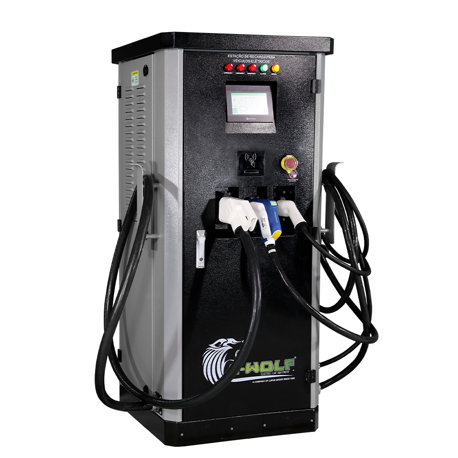 163kw AC/DC Integrated Commercial EV Charger Supply Double DC Connectors And 1 AC EVSE DC Fast EV Charger