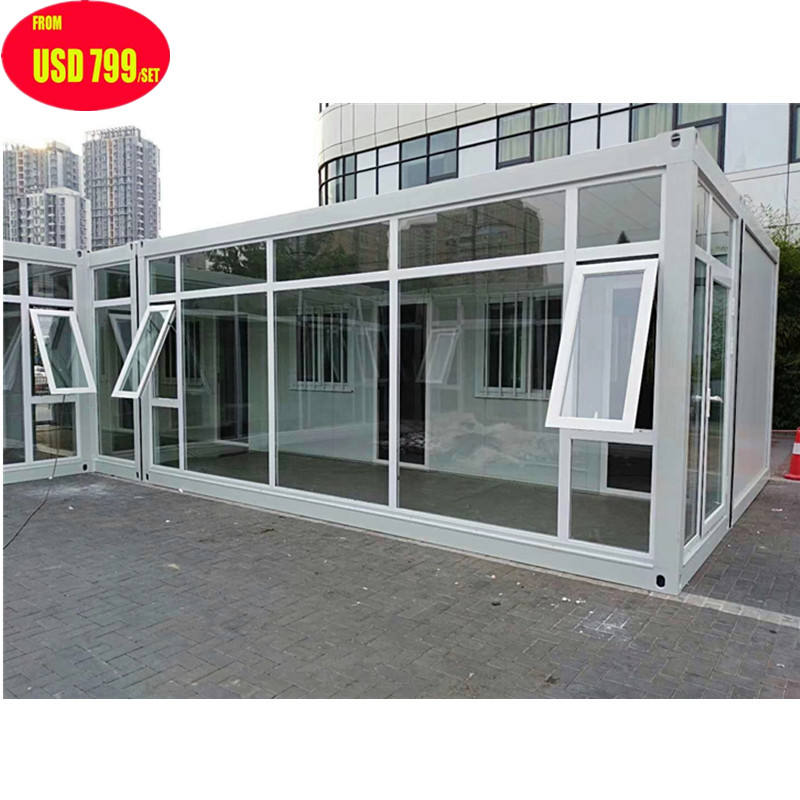 Small steel structure Prefabricated Ready made modular folding prefab flat packed container houses modern