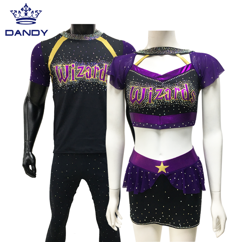 Groothandel Custom Sublimatie <span class=keywords><strong>Cheerleading</strong></span> Uniformen Sparkle Cheer <span class=keywords><strong>Kleding</strong></span>